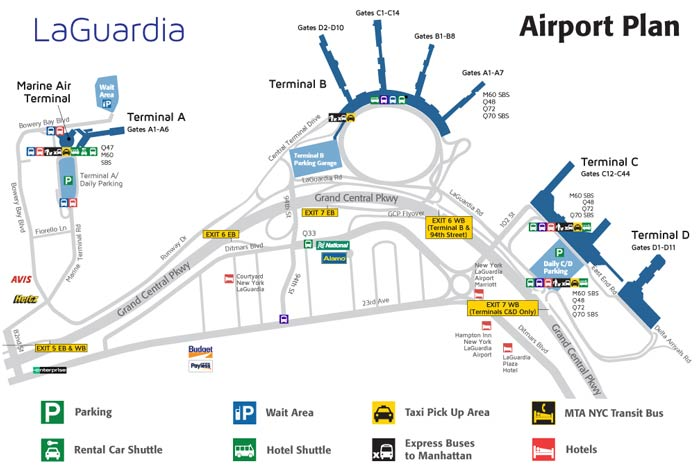 image of parking map for LaGuardia Airport