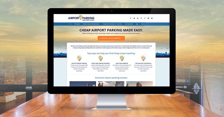 AirportParkingHelper.com homepage