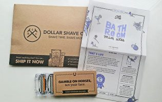 dollar shave club razor package