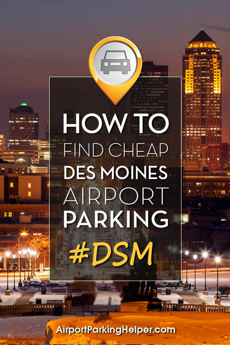 DSM Des Moines airport parking image