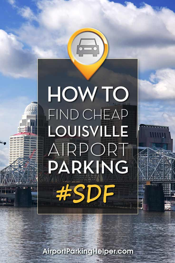 Louisville SDF airport parking image