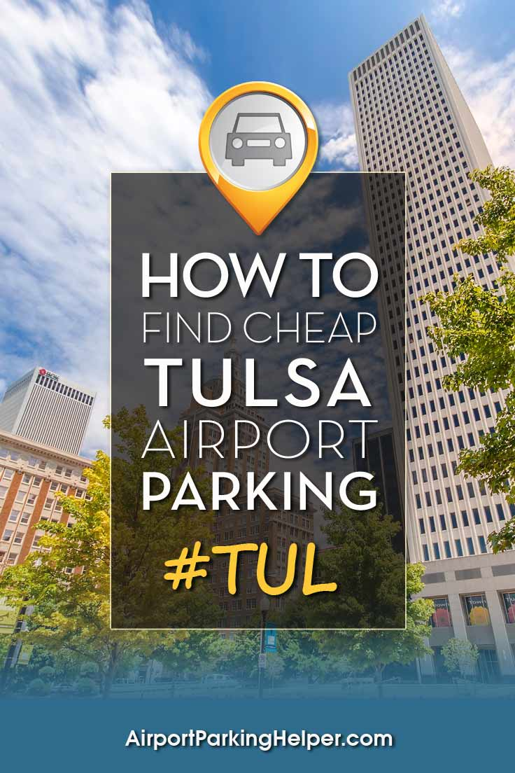 Tulsa TUL airport parking image