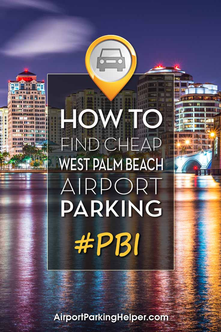 West Palm Beach PBI airport parking image
