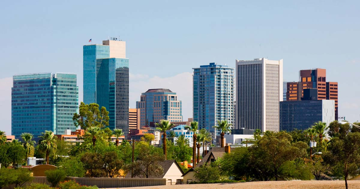 photo of Phoenix AZ downtown area