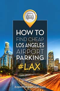 LAX Los Angeles airport parking